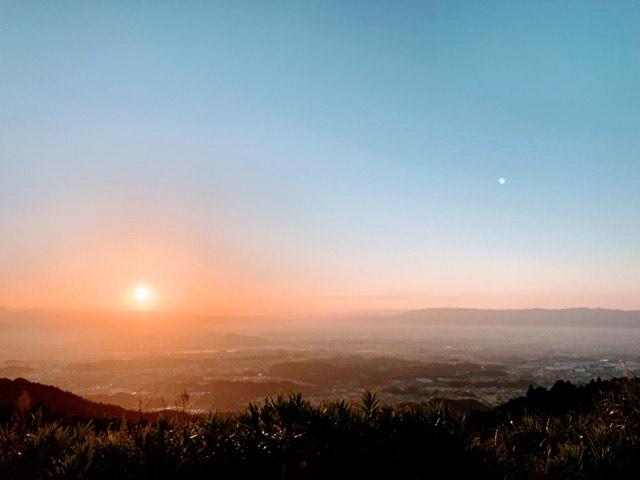 日の出/基山山頂